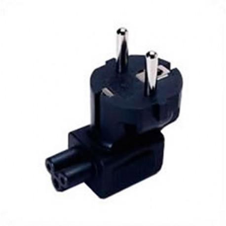 Schuko CEE 7/7 Male Plug to C5 Down Female Connector 2.5 Amp