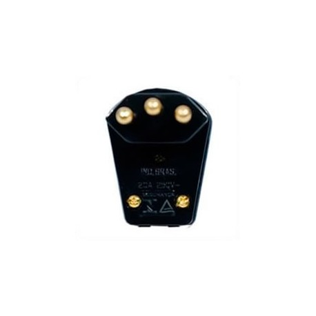 Brazil NBR 14136 20 Amp 250 Volt Black Down Angle Entry Male