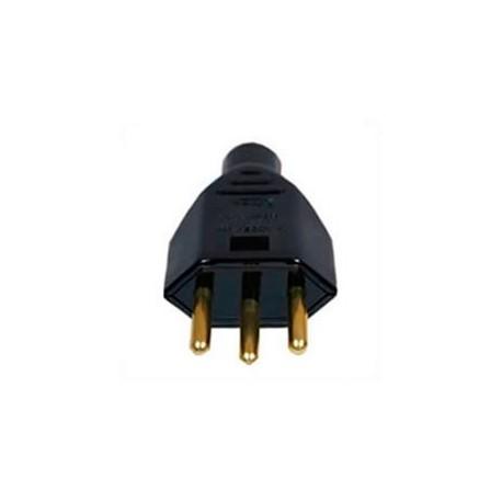 Brazil NBR 14136 10 Amp 250 Volt Black Straight Entry Male Plug