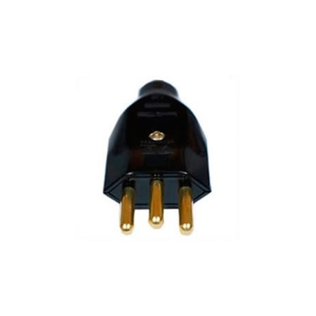 Brazil NBR 14136 20 Amp 250 Volt Black Straight Entry Male Plug