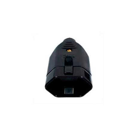 Brazil NBR 6147 10 Amp 250 Volt Black Straight Entry Female