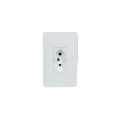 Brazil NBR 14136 20 Amp 250 Volt White Panel Mount Wall Socket