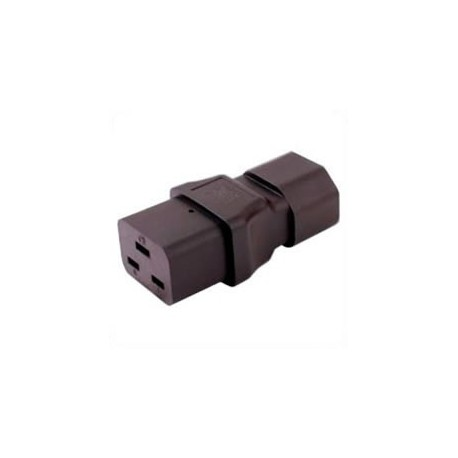 C14 Plug to C19 Connector Block Adapter - Black