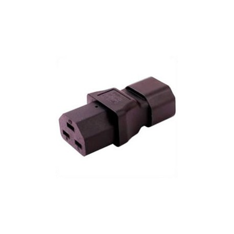 C14 Plug to C21 Connector Block Adapter - Black