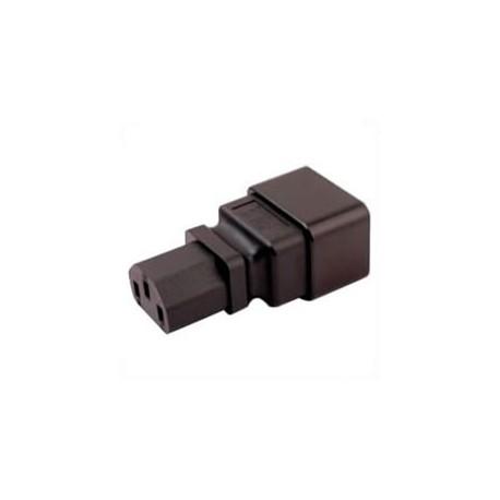 IEC 60320 C20 Plug to IEC 60320 C13 Connector Block Adapter -