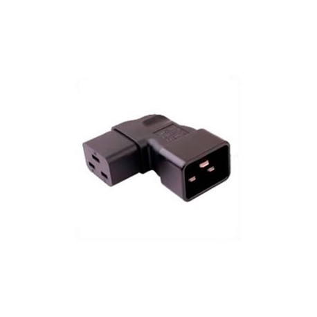 IEC 60320 C20 Plug to IEC 60320 C19 Right Angle Connector Block