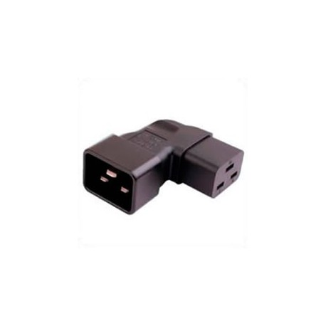 IEC 60320 C20 Plug to IEC 60320 C19 Left Angle Connector Block