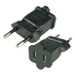 European CEE 7/16 Male Plug to NEMA 1-15 Female Connector 2.5