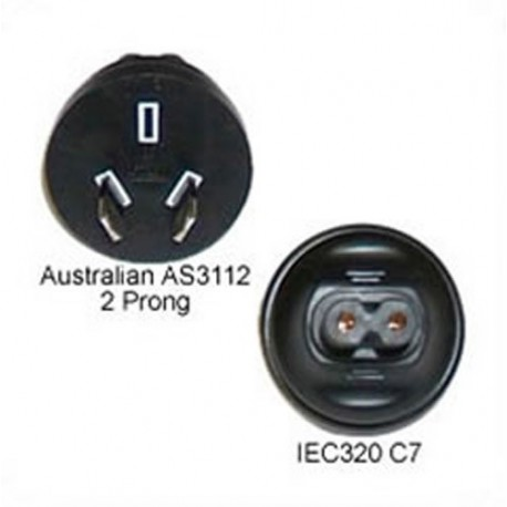 Australian AS 3112 Male Plug to C7 Female Connector 2.5 Amp 250