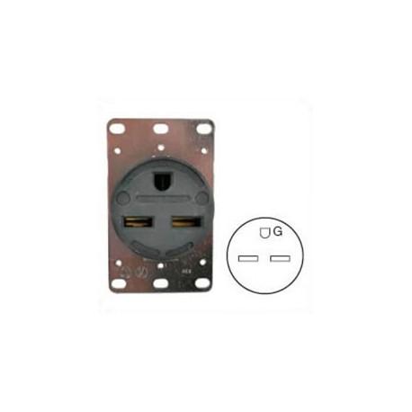 Hubbell HBL9330 NEMA 6-30 Female Receptacle - 30 Amp, 250 Volt