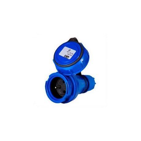 France CEE 7/5 16 Amp 250 Volt Blue Straight Entry Female