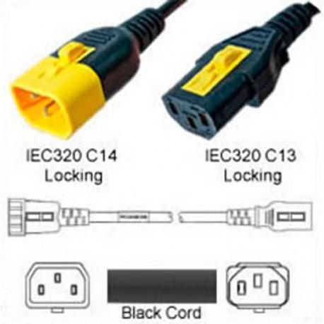V-Lock C14 Male to V-Lock C13 Female 0.3 Meter 10 Amp 250 Volt