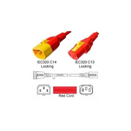 V-Lock C14 Male to V-Lock C13 Female 0.5 Meter 10 Amp 250 Volt