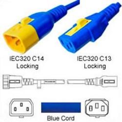 V-Lock C14 Male to V-Lock C13 Female 0.6 Meter 10 Amp 250 Volt