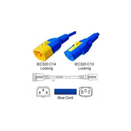 V-Lock C14 Male to V-Lock C13 Female 0.9 Meter 10 Amp 250 Volt