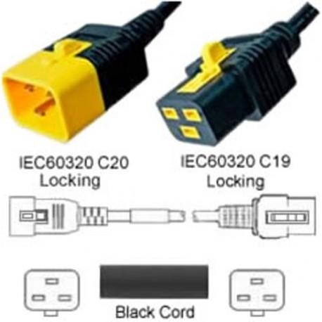 V-Lock C20 Male to V-Lock C19 Female 1.2 Meter 16 Amp 250 Volt