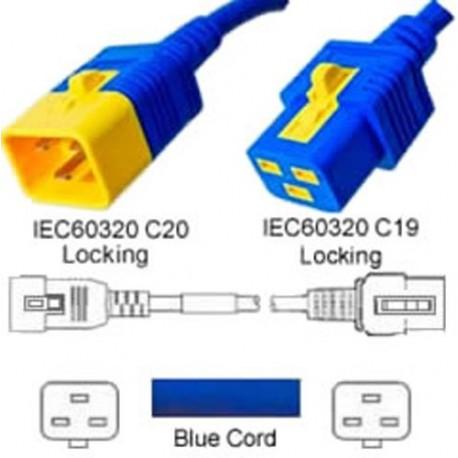 V-Lock C20 Male to V-Lock C19 Female 0.6 Meter 16 Amp 250 Volt