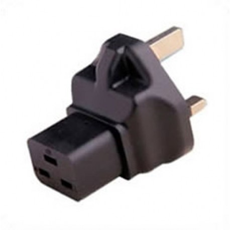 U.K. BS 1363 Male Plug to C19 Female Connector 13 Amp 250 Volt
