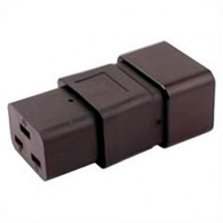 IEC 60320 C20 Plug to IEC 60320 C19 Connector Block Adapter -