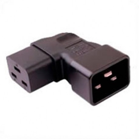 IEC 60320 C20 Plug to IEC 60320 C19 Connector Right Angle Block