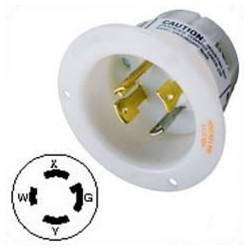 Hubbell HBL2715 NEMA L14-30 Male Inlet - White