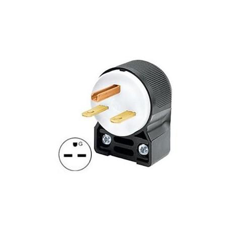 Hubbell HBL5666CA NEMA 6-15 Angled Entry Male Plug