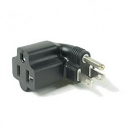 North America NEMA 5-15 Plug to NEMA 5-15/20 Right Connector