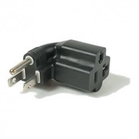 North America NEMA 5-15 Plug to NEMA 5-15/20 Left Connector