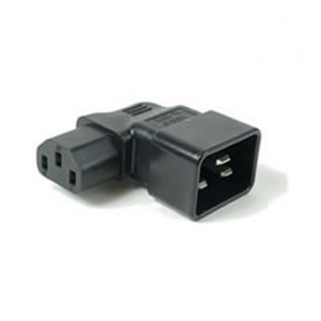 IEC 60320 C20 Plug to IEC 60320 C13 Right Angle Connector Block