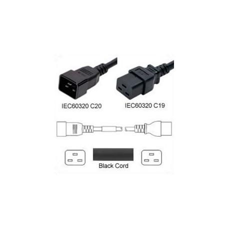 C20 Male to C19 Female 0.5 Meter 16 Amp 250 Volt H05VV-F 3x1.5