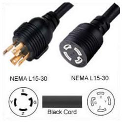Extension Power Cord Twist Lock L15-30 Plug to Twist Lock