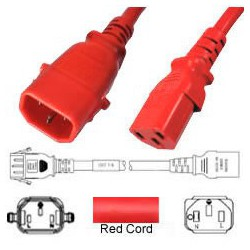 P-Lock C14 Male to C13 Female 0.5 Meter 10 Amp 250 Volt H05VV-F