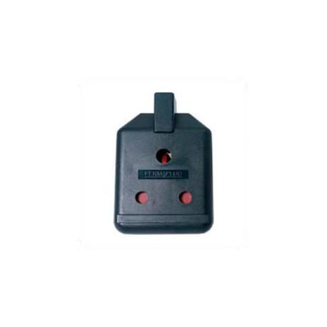 India 15 Amp 250 Volt Black Up Angle Entry Female Connector