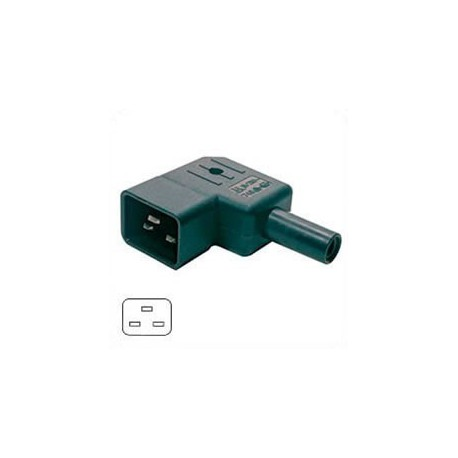 AC Plug IEC 60320 C20 Male Left Angle 16 Amp 250 Volt Straight