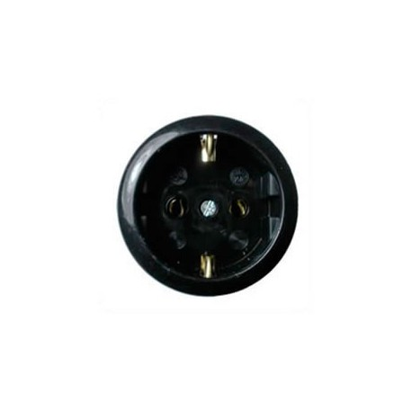 Euro CEE 7/3 16 Amp 250 Volt Black Panel Mount Wall Socket