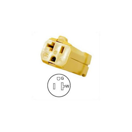 Hubbell HBL5369VY NEMA 5-20 Female Connector - Valise, Yellow