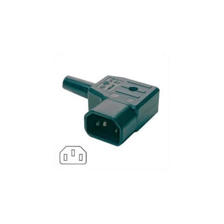 AC Plug IEC 60320 C14 Male Right Angle 10 Amp 250 Volt Straight