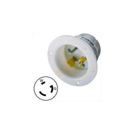 Hubbell HBL2315 NEMA L5-20 Male Inlet - White