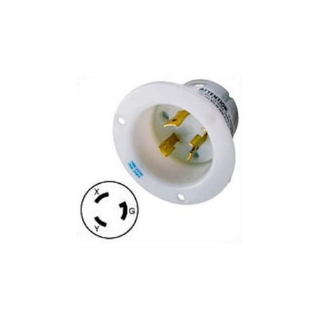 Hubbell HBL2325 NEMA L6-20 Male Inlet - White