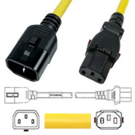W-Lock C14 Male to C13 Female 2.7 Meter 10 Amp 250 Volt H05VV-F