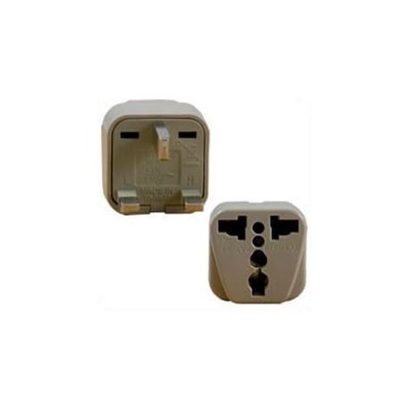 International Adapter U.K. Male Plug to Multiple Female