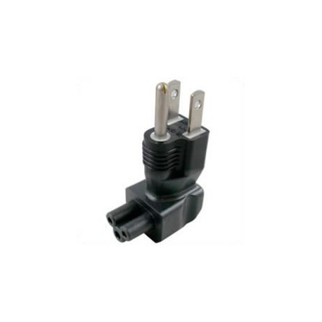 North America NEMA 5-15 Plug to C5 Connector Angled Up Block
