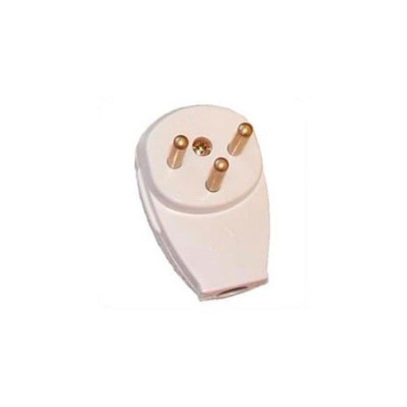 Israel SI-32 16 Amp 250 Volt White Down Angle Entry Male Plug