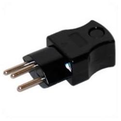 Switzerland SEV1011 T13 10 Amp 250 Volt Black Straight Entry