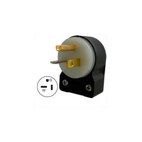 Hubbell HBL5366CA NEMA 5-20 Angled Entry Male Plug