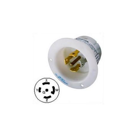 Hubbell HBL2815 NEMA L21-30 Male Inlet - White