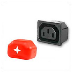 Outlet Cover C13 - Red Shield