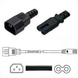 C14 Male to C7 Female 0.9 Meter 2.5 Amp 250 Volt 18/2 SPT-2
