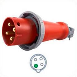Hubbell HBL4100P7W AC Plug IEC60309 4100P7W Male IEC 309 Pin &