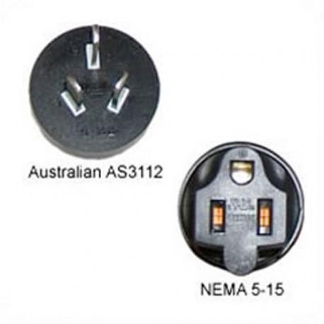 Australian AS 3112 Male Plug to NEMA 5-15 Female Connector 10